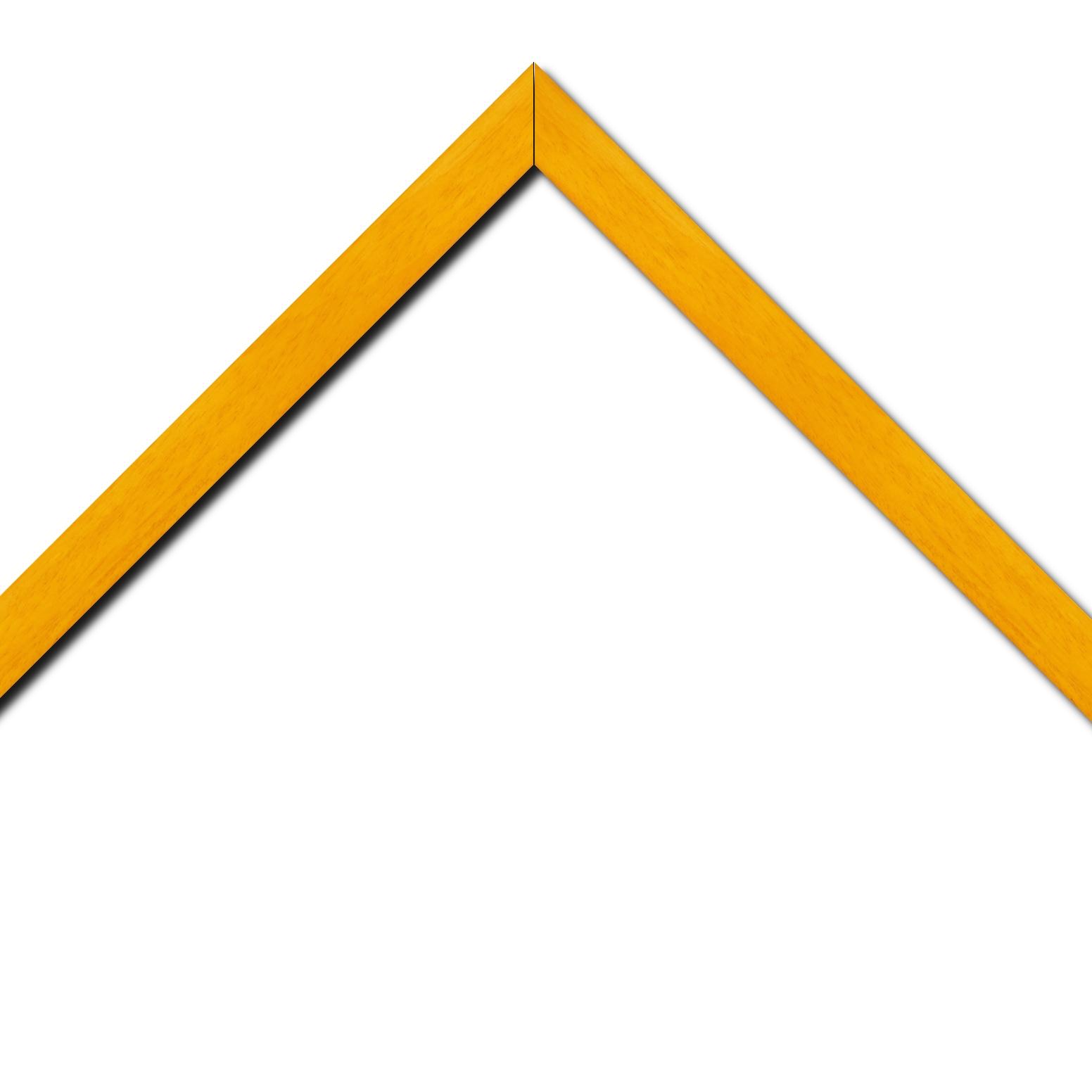Baguette bois profil plat largeur 2.5cm couleur jaune tournesol satiné