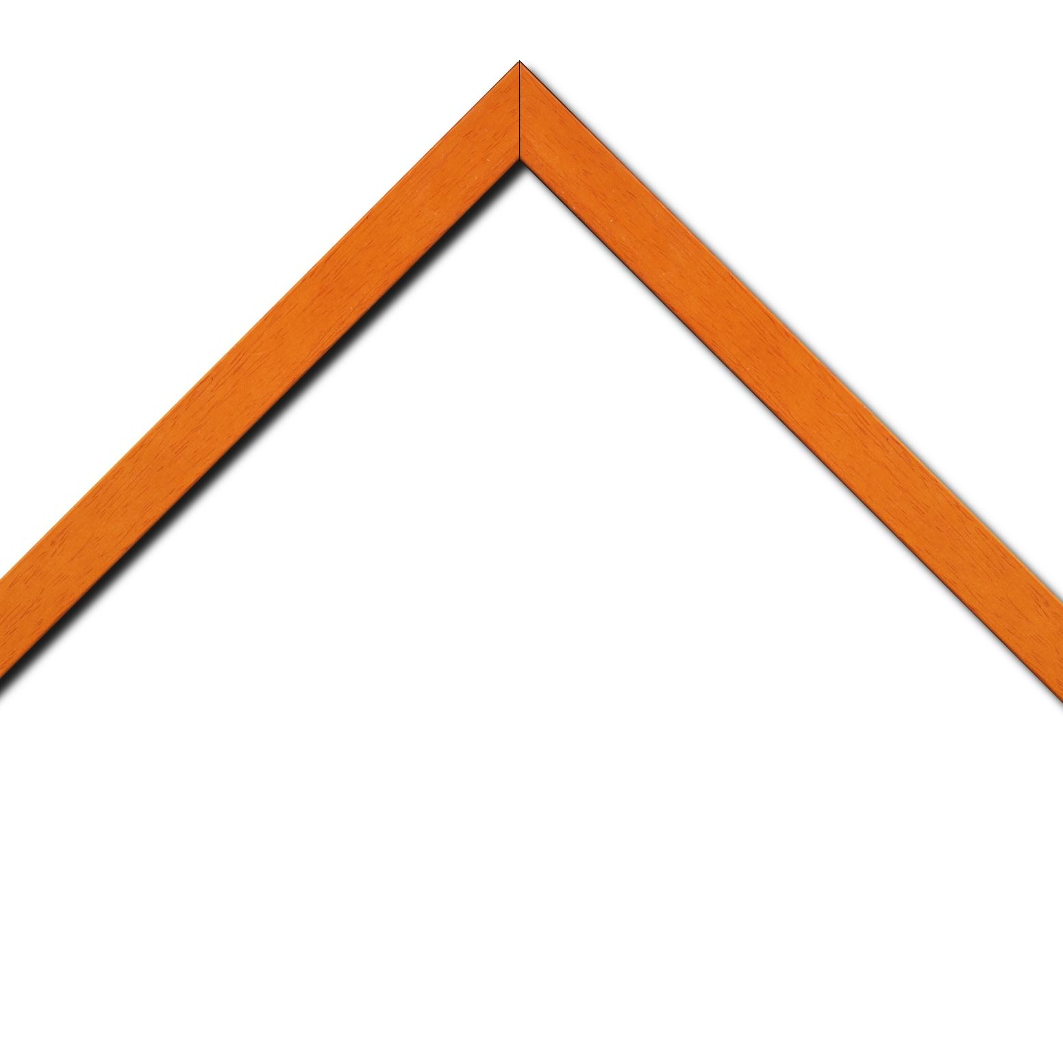 Baguette bois profil plat largeur 2.5cm couleur orange satiné