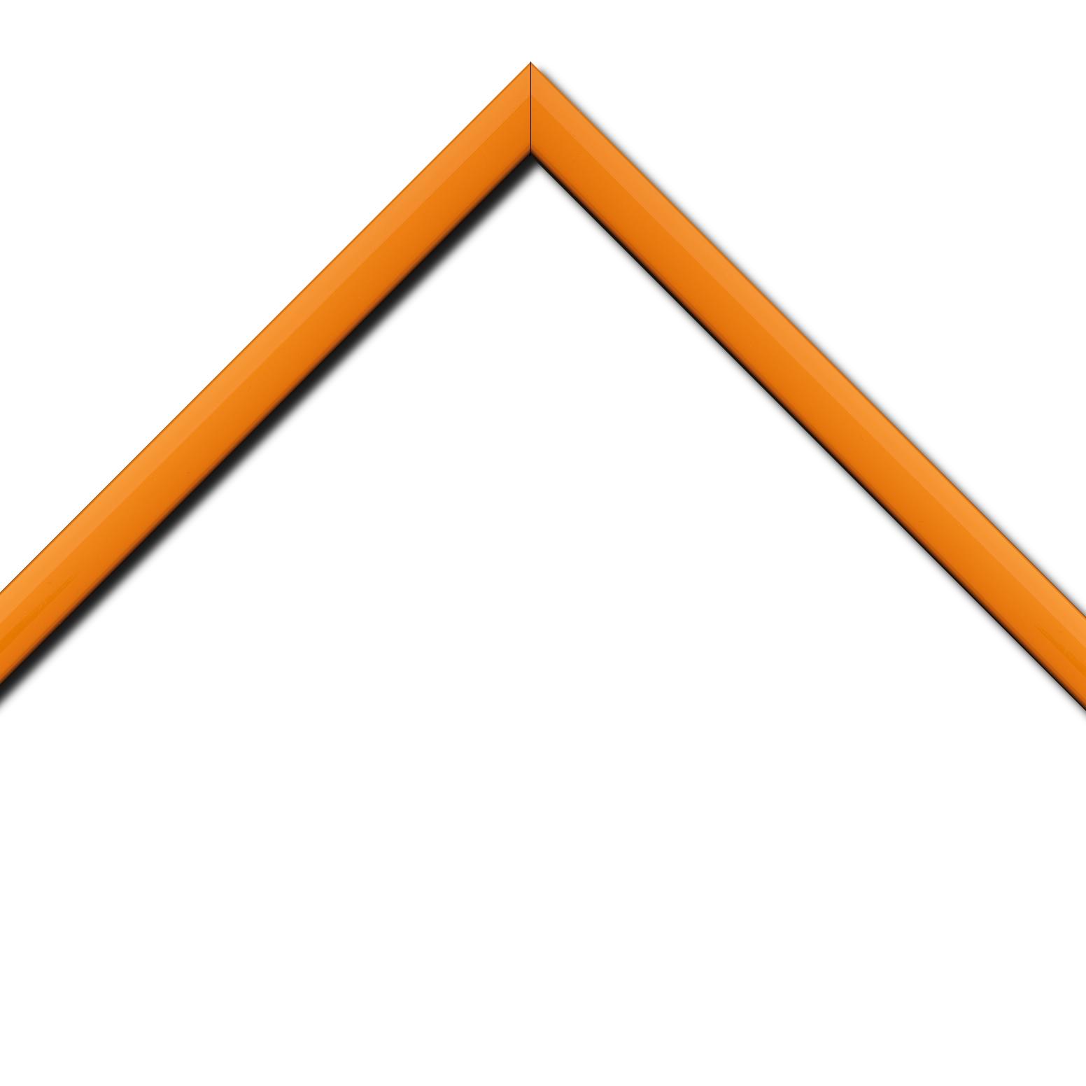 Baguette bois profil méplat largeur 2.3cm couleur orange laqué