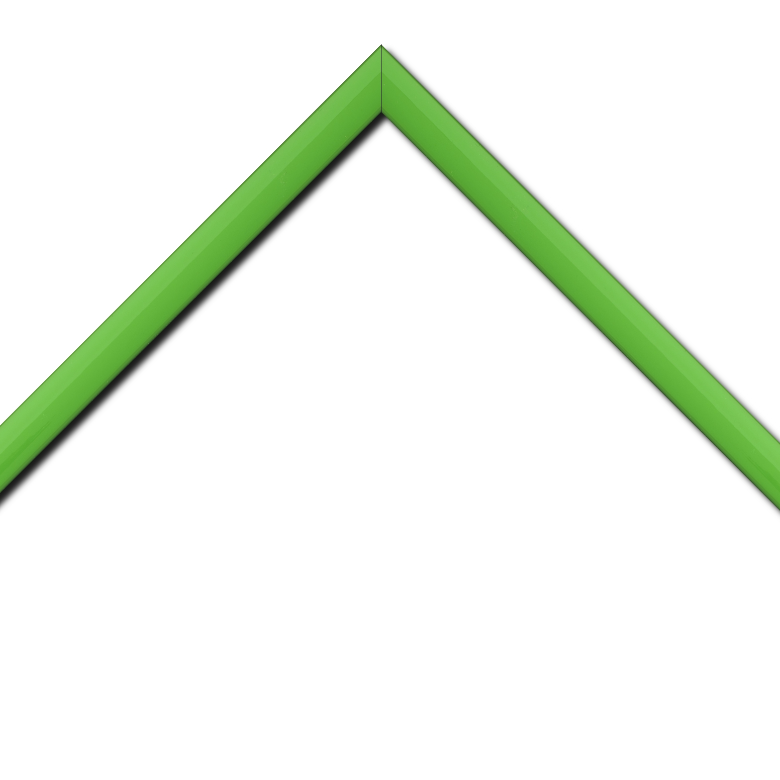 Baguette bois profil méplat largeur 2.3cm couleur vert tonique laqué