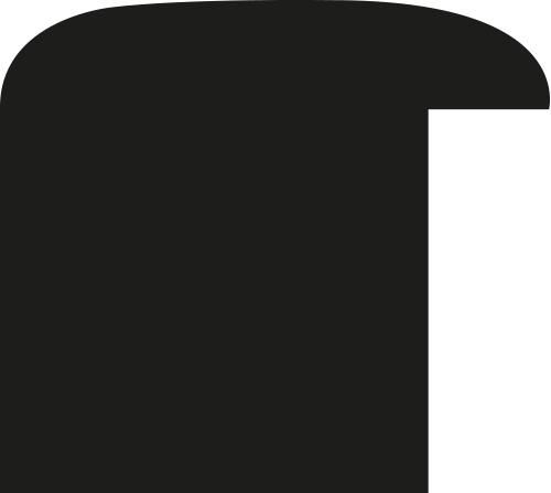 Cadre bois profil méplat largeur 3.7cm couleur noir satiné effet cube - 59.4x84.1