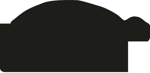Cadre bois profil arrondi largeur 4.8cm couleur argent noirci  décor bambou - 59.4x84.1