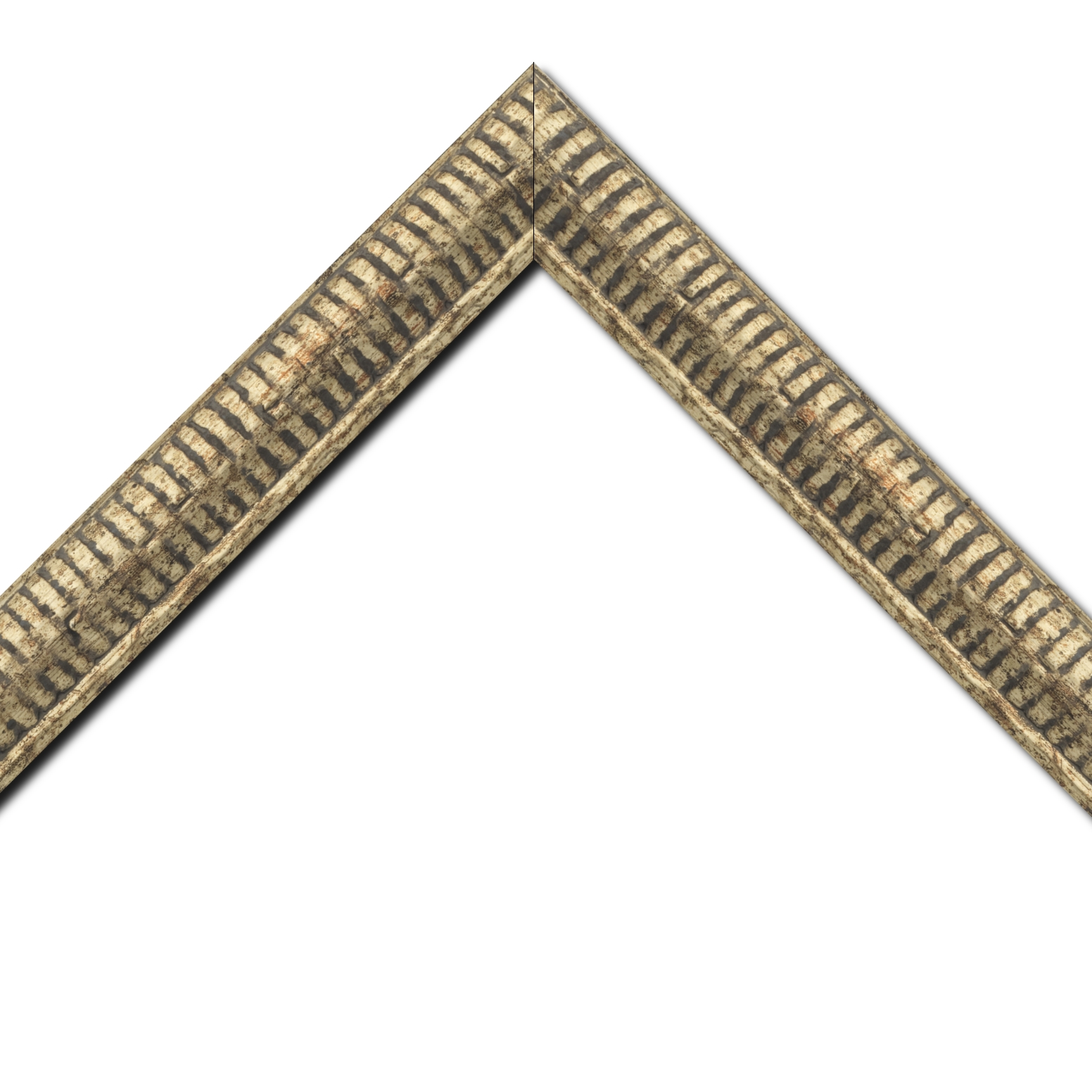 Baguette bois profil arrondi largeur 4.8cm couleur or noirci décor bambou