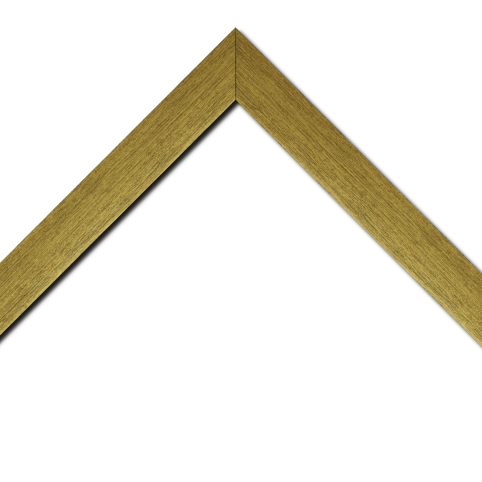 Baguette bois profil plat largeur 4cm or contemporain satiné haut de gamme