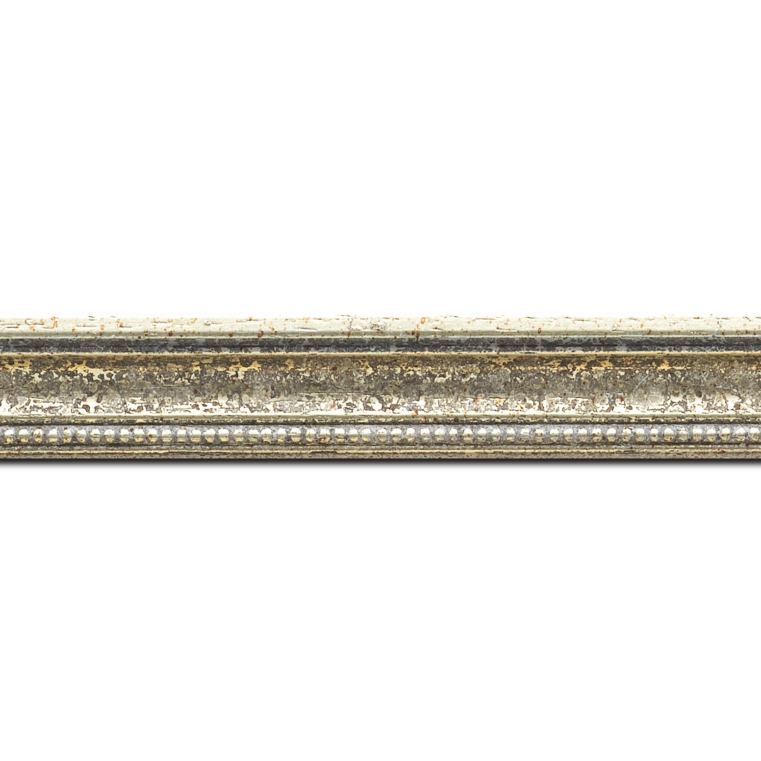 cadre bois argent 50x75 pas cher cadre photo bois argent. Black Bedroom Furniture Sets. Home Design Ideas
