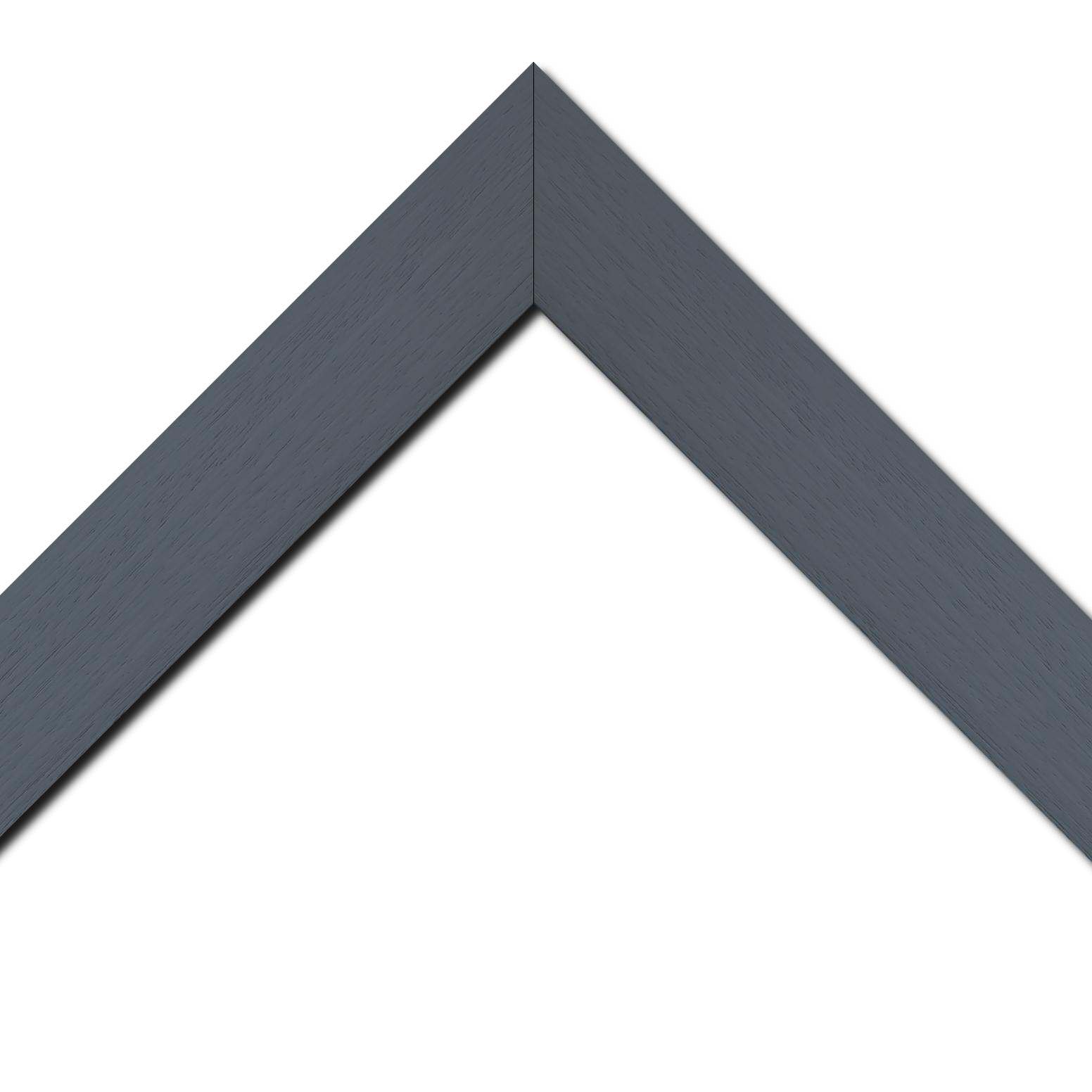 Baguette bois profil plat largeur 5.9cm couleur gris foncé satiné