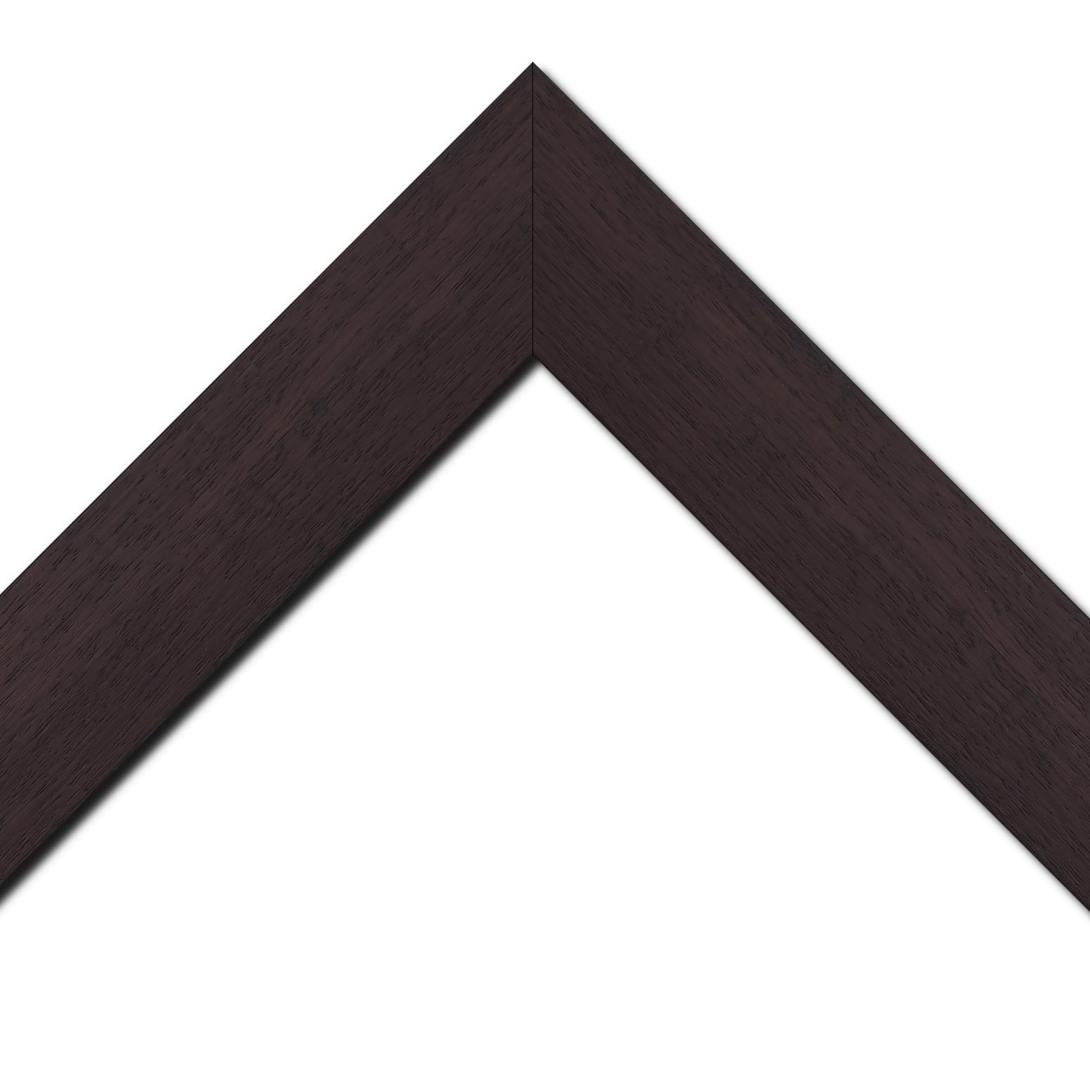 Baguette bois profil plat largeur 5.9cm couleur marron foncé satiné