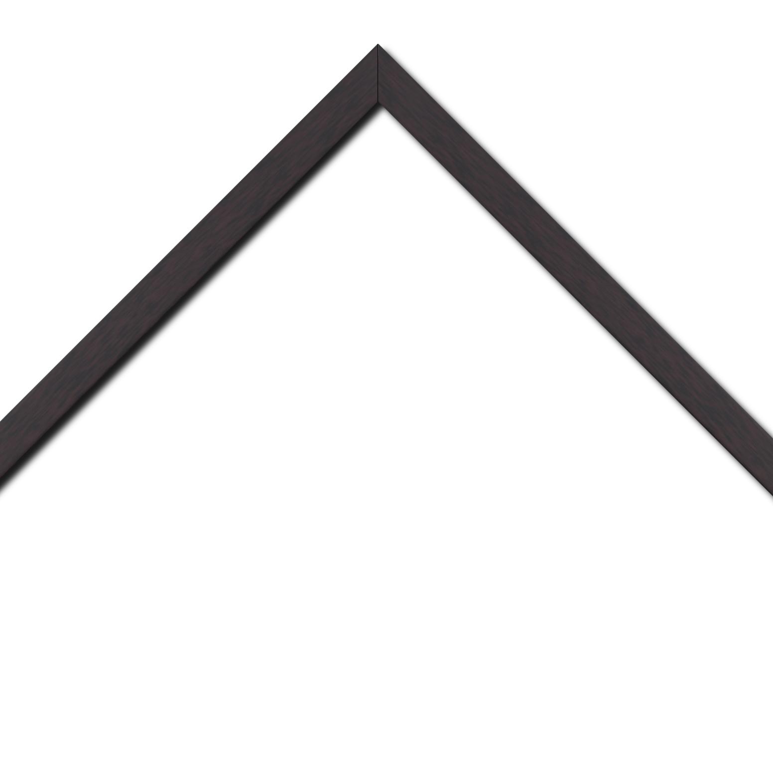 Baguette bois profil plat effet cube largeur 2cm couleur ton bois palissandre