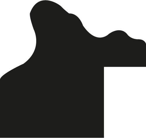 Cadre bois profil incurvé largeur 2.1cm or patiné à la feuille - 28x34