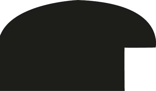Cadre bois profil arrondi largeur 3.5cm couleur blanc mat - 80x100