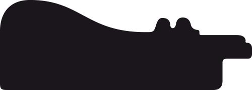 Baguette bois profil incurvé largeur 5.7cm de couleur bordeaux patiné fond or marie louise blanche mouchetée filet or intégré