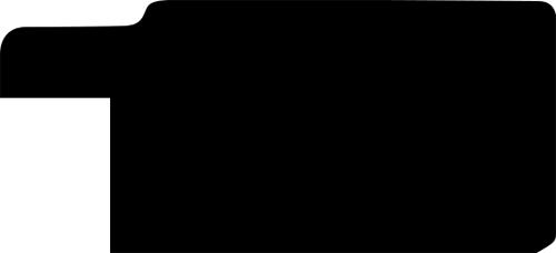 Baguette bois profil plat largeur 3.3cm couleur noir fond argent filet argent