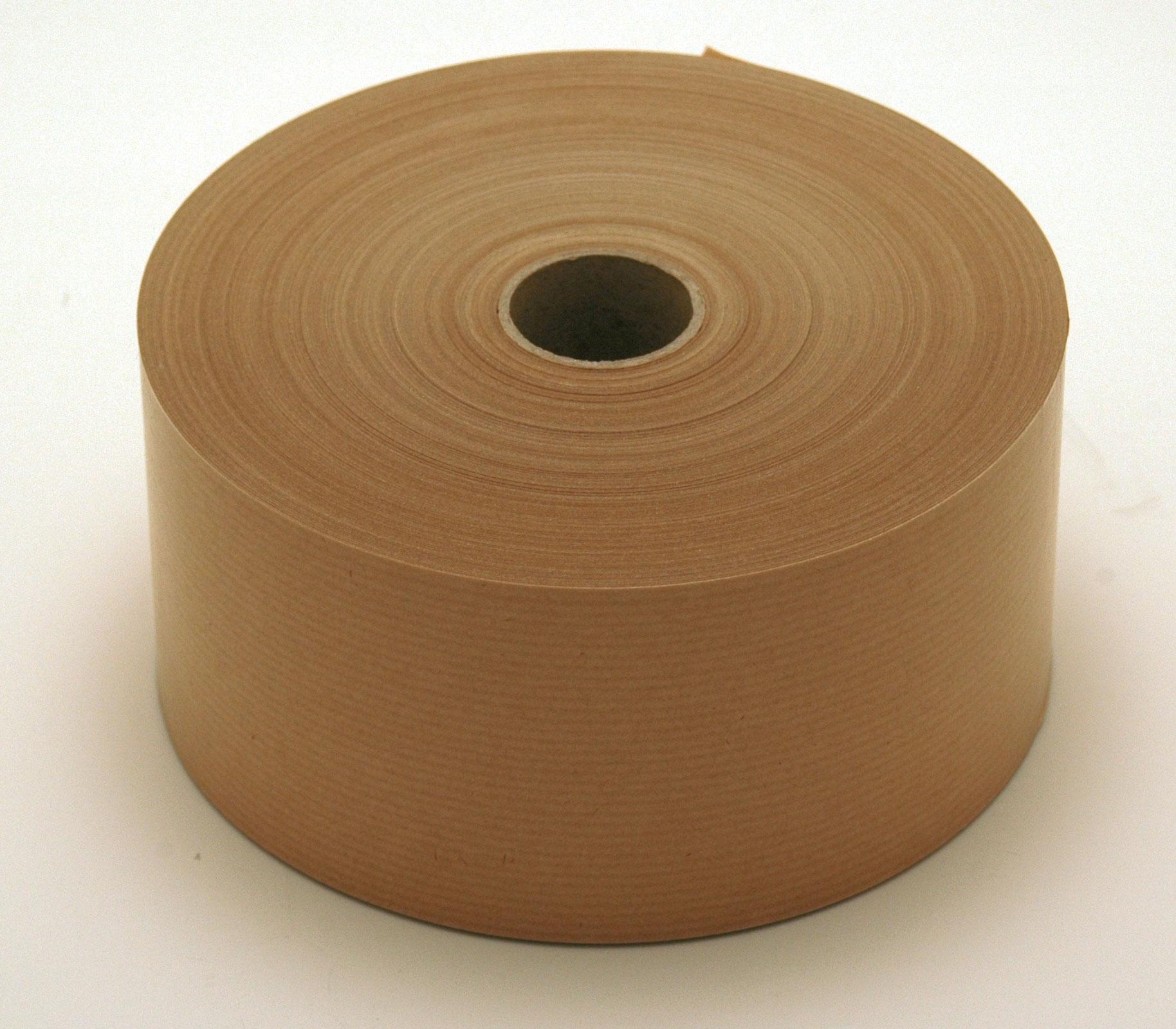 véritable papier kraft (60g) enduit de colle à humidifier. rouleau de 200 mètres largeur 6cm