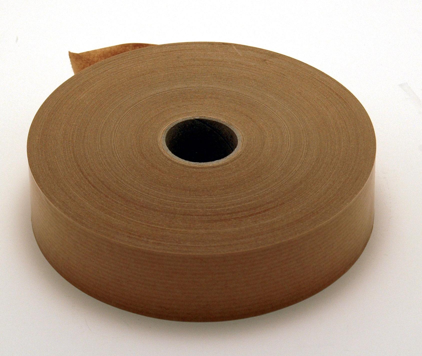 papier kraft enduit d'un adhésif caoutchouc. se déroule facilement. pouvoir autocollant très élevé. s'applique à sec. rouleau de 50 mètres largeur 3.8cm