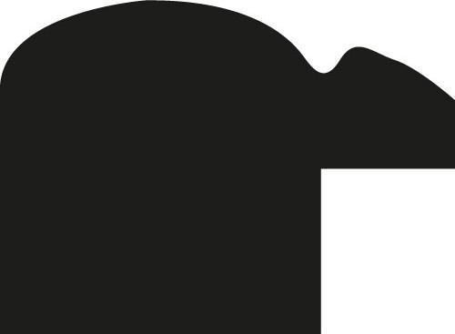 Baguette bois profil arrondi largeur 2.1cm couleur noir mat filet argent