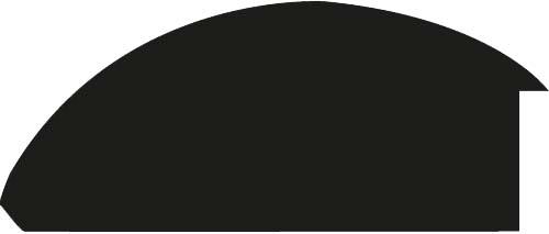 Baguette bois profil demi rond largeur 8.3cm argent brillant décor arcade en relief creux noirci