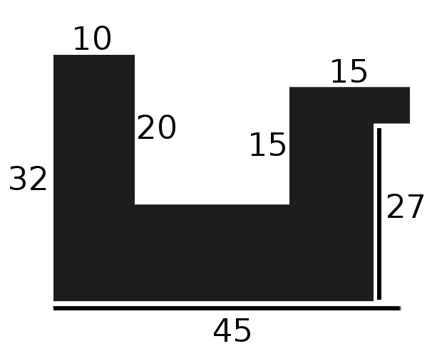 Baguette bois caisse américaine largeur 4.5cm noir satiné (spécialement concu pour les supports rigides ne necessitant pas de protection plexi ou autre : aluminium, dibon , pvc etc...le sujet se colle sur le nez de feuillure du cadre ) profil en u
