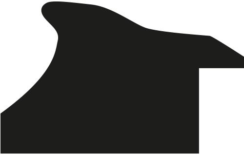 Baguette bois profil arrondi largeur 4cm couleur marron rustique filet or