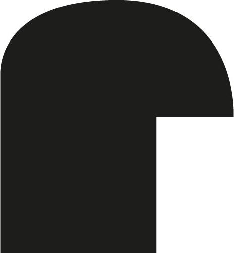 Cadre bois profil demi rond largeur 1.5cm couleur noir mat - 40x40