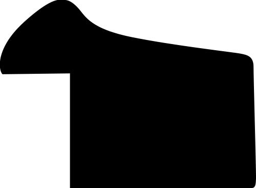 Baguette bois profil incurvé largeur 1.9cm de couleur or satiné