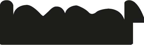 Baguette bois profil plat largeur 10.4cm or antique décor entrelacé en rélief et bord noir vieilli