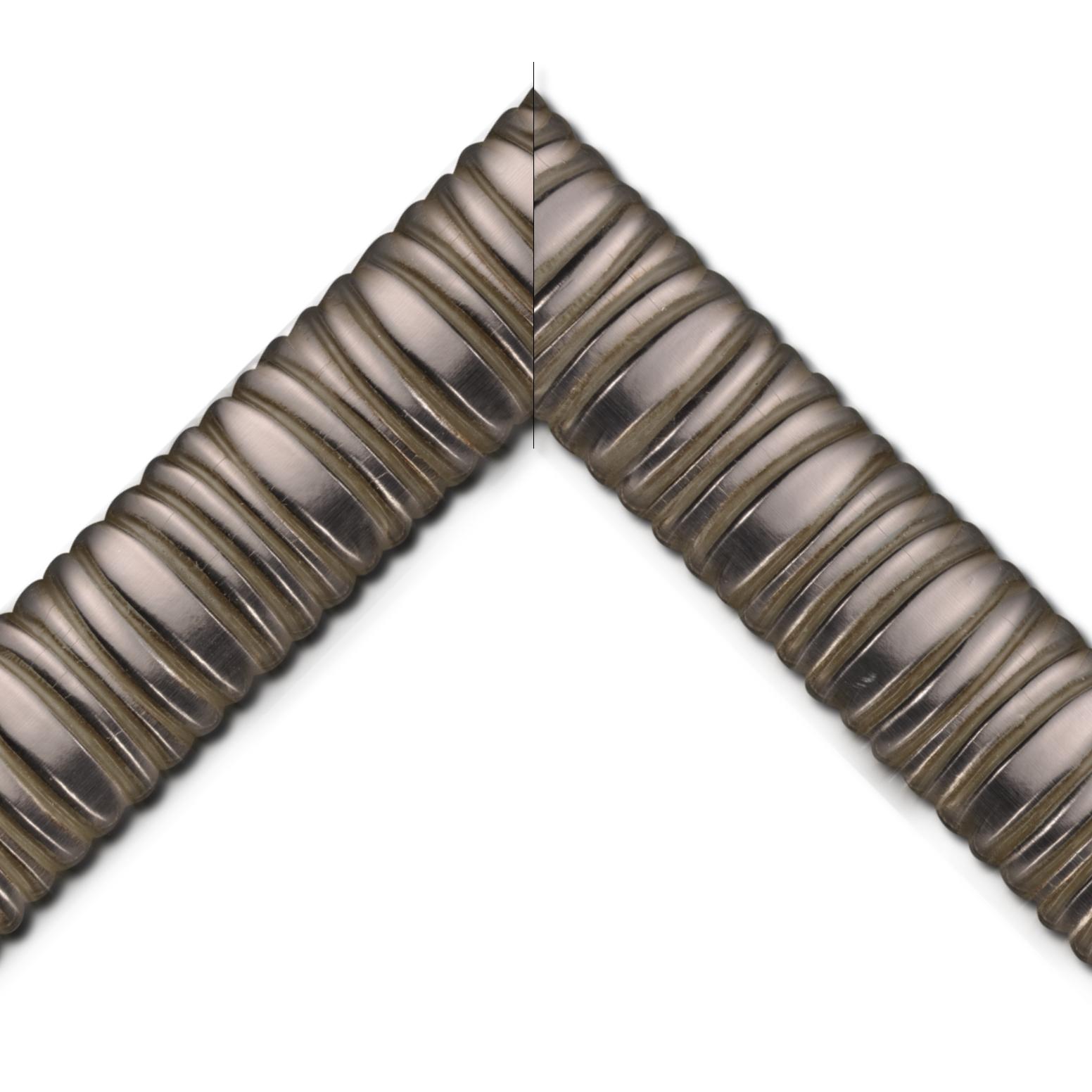 Baguette bois profil méplat largeur 9.4cm plombs chaud décor cannelé