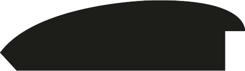 Baguette bois profil méplat largeur 9.4cm or décor cannelé