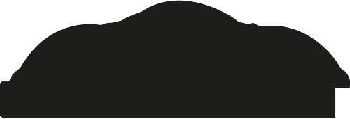 Baguette bois profil arrondi largeur 12cm or décor capiton