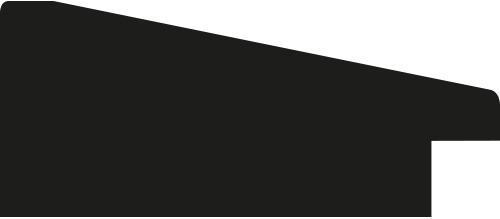 Baguette bois profil incliné plat largeur 6.8cm chocolat wengué satiné filet créme extérieur
