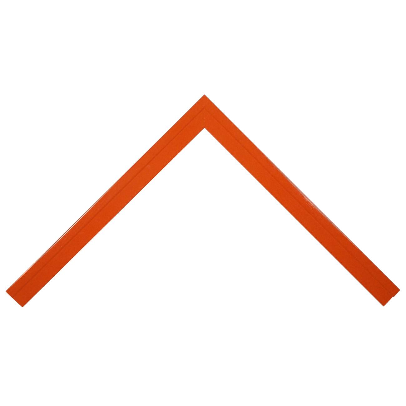 Baguette bois profil plat escalier largeur 3cm couleur orange laqué