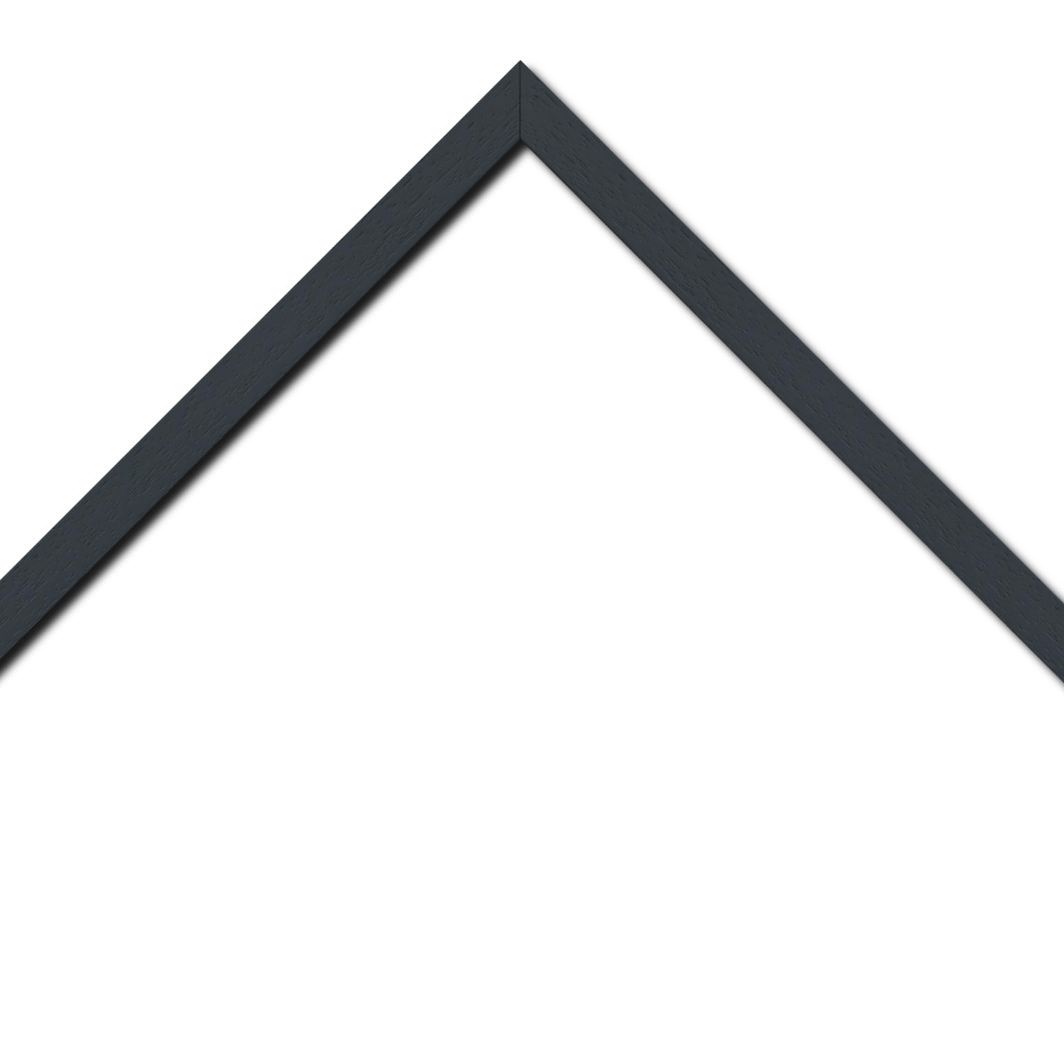 Baguette bois profil plat largeur 2cm hauteur 3.3cm couleur gris foncé satiné (aussi appelé cache clou)