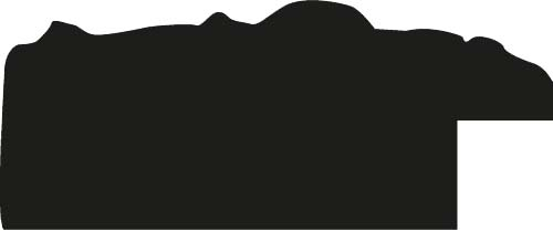 Cadre bois profil plat largeur 3.5cm couleur noir antique satiné décor frise - 15x20