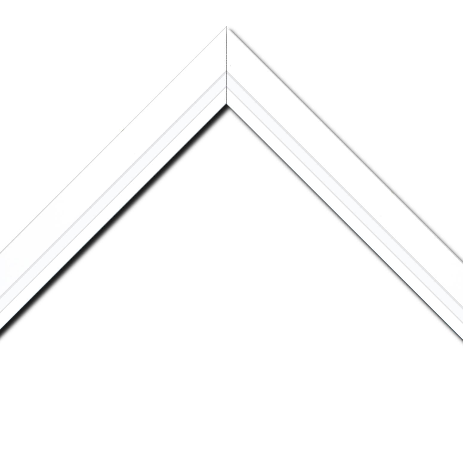 Cadre bois blanc — 34 x 46