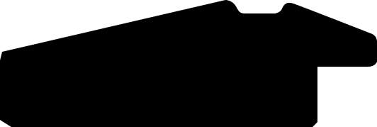Cadre bois profil pente largeur 4.5cm de couleur blanc mat filet noir - 50x75