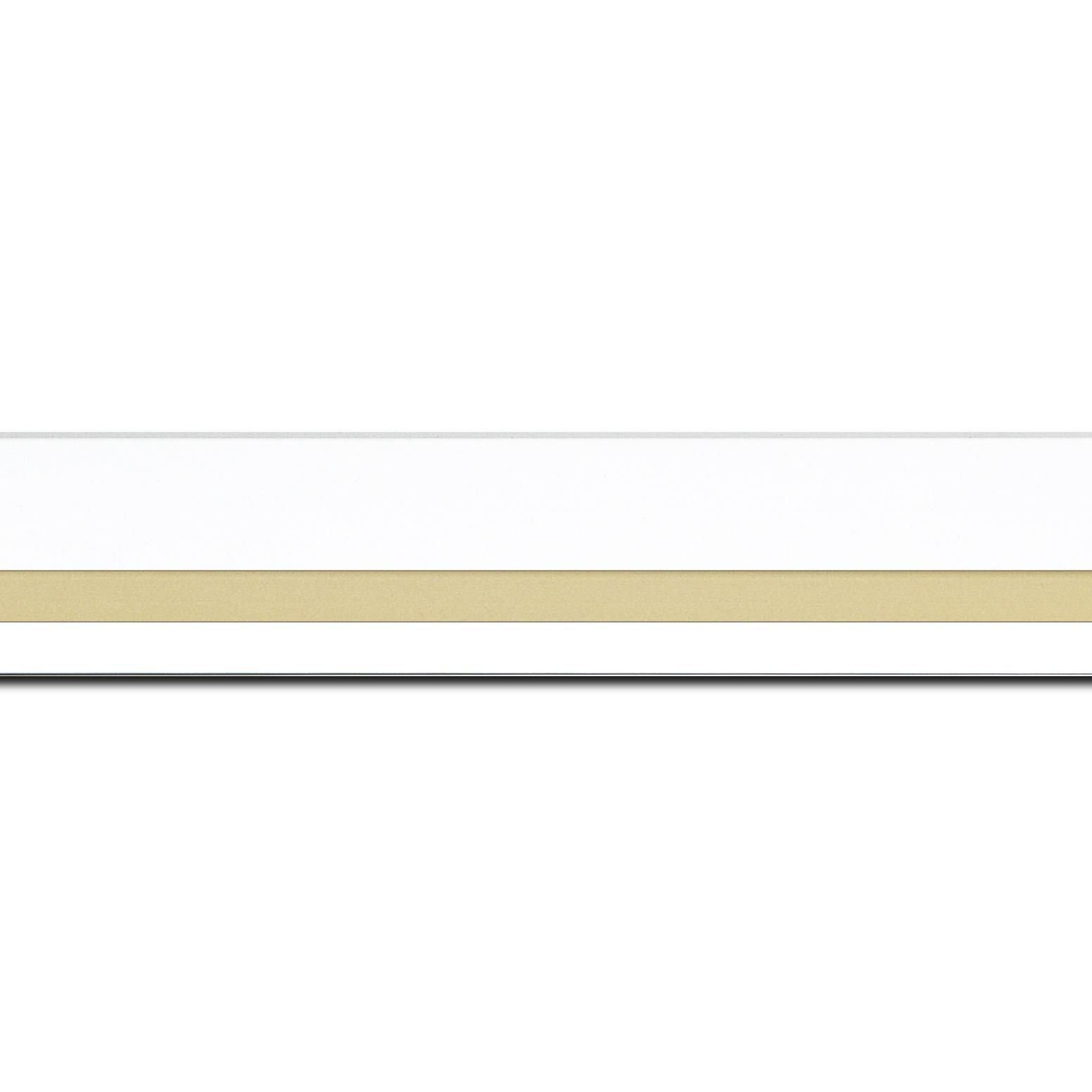 Cadre bois or blanc — 50 x 75