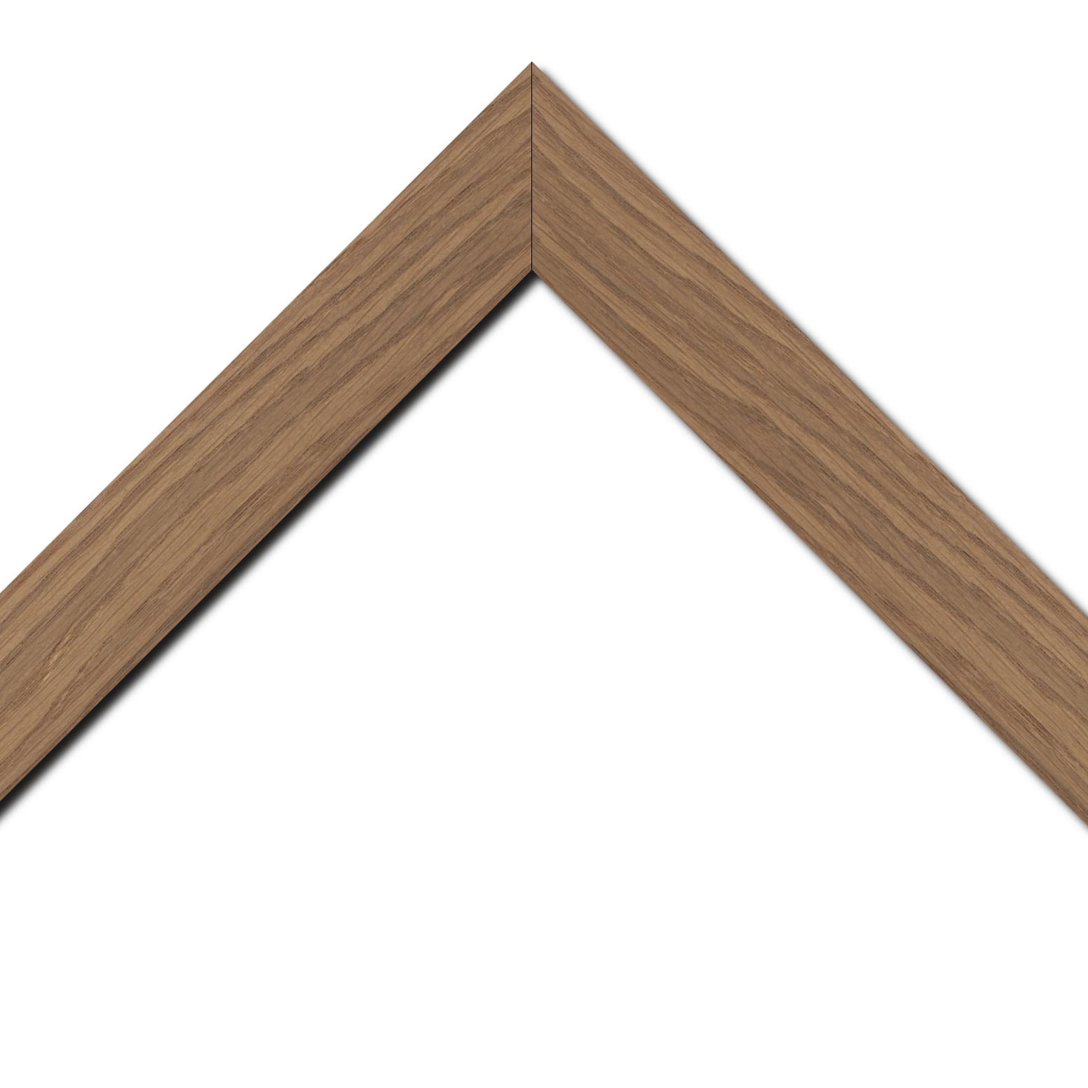 Baguette bois profil plat largeur 4cm chêne massif naturel