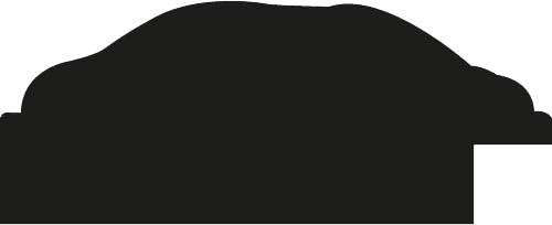 Baguette bois profil arrondi largeur 5.5cm or décor capiton