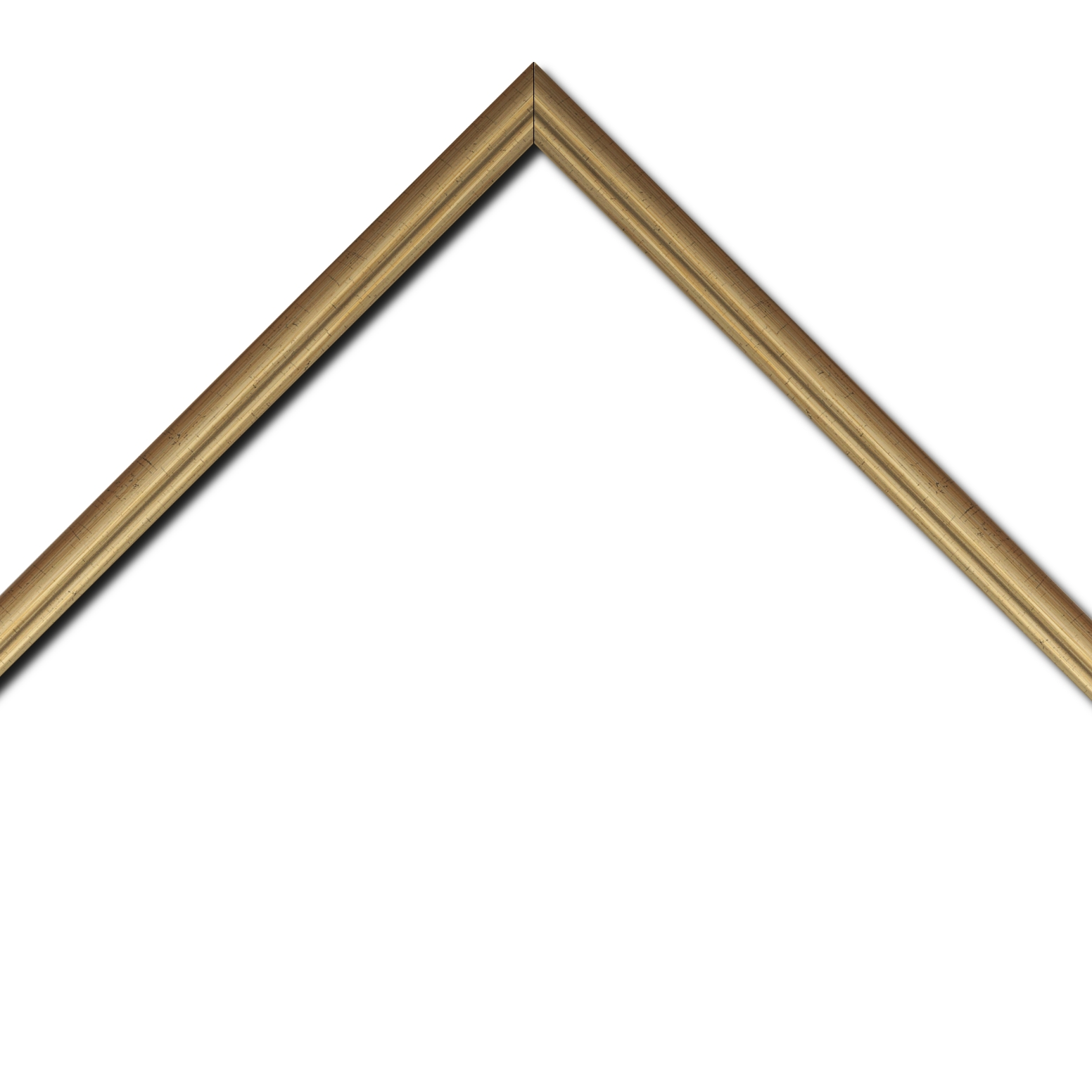 Baguette bois profil bombé largeur 2cm couleur or