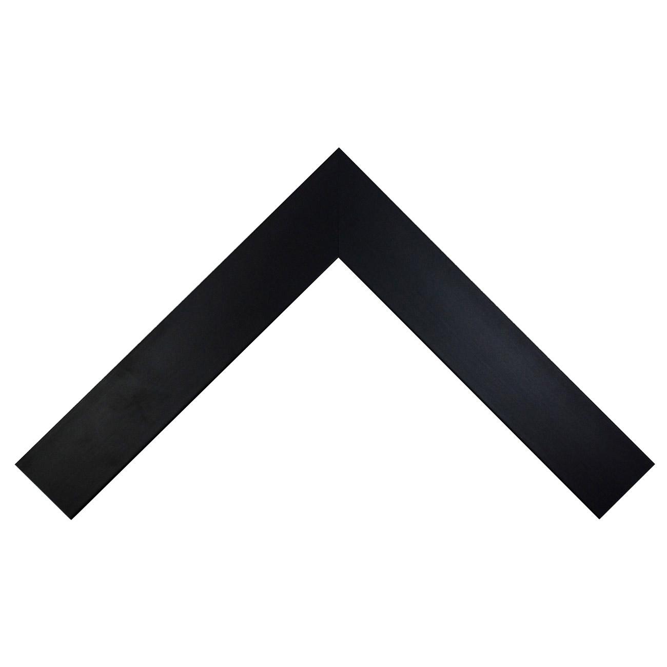Baguette bois profil plat largeur 6cm couleur noir mat finition pore bouché haut de gamme