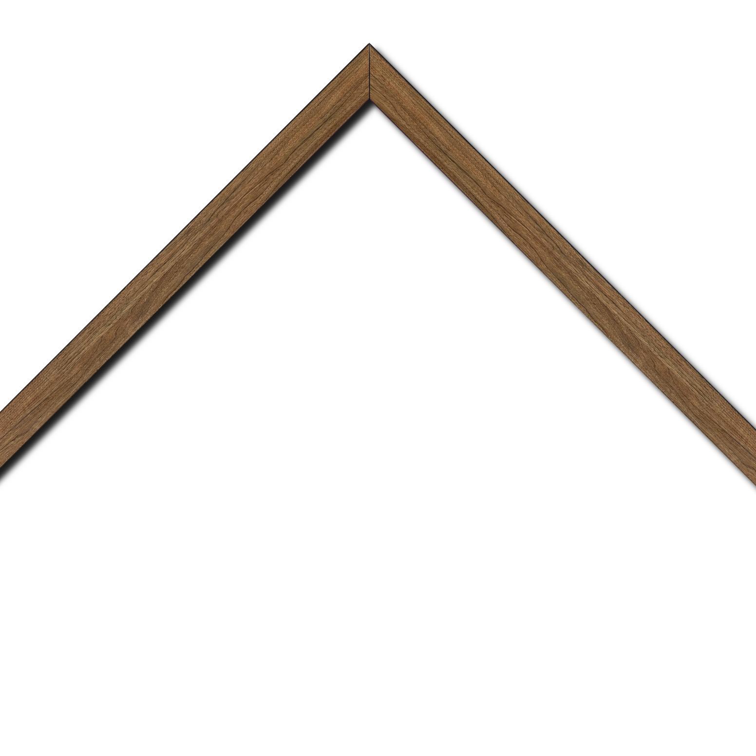 Baguette bois profil plat largeur 2cm décor bois chêne doré