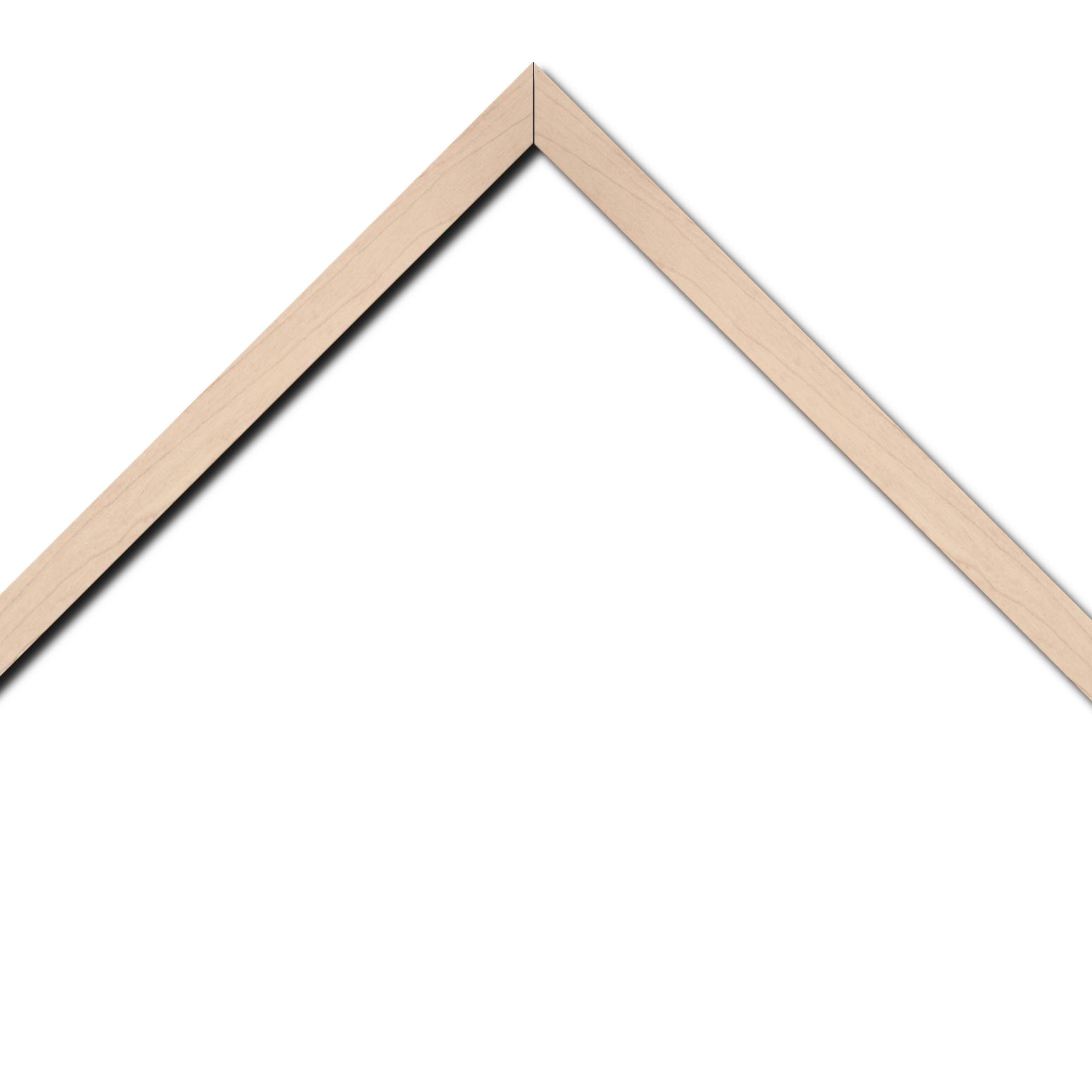 Baguette bois profil plat largeur 2cm décor bois blanc naturel