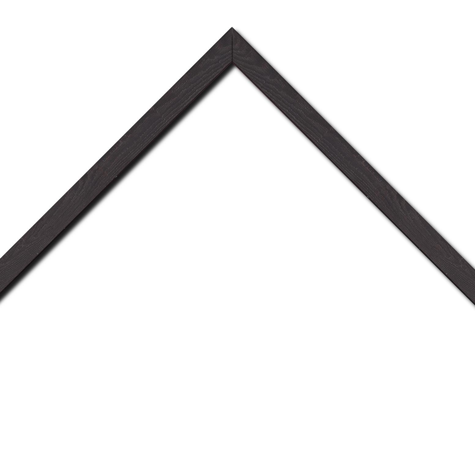 Baguette bois profil plat largeur 2cm décor bois wengé foncé
