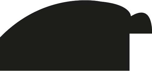 Cadre bois profil arrondi largeur 4.7cm couleur rouge cerise satiné rehaussé d'un filet noir - 70x100
