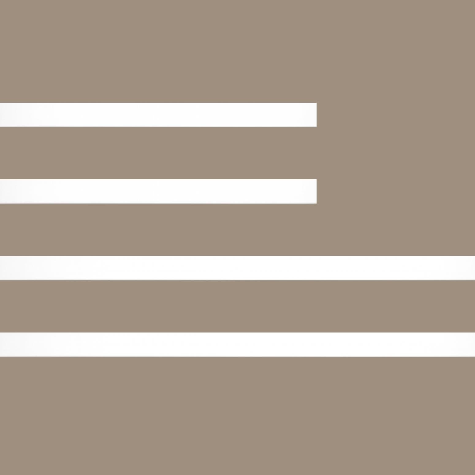 Baguette bois profil plat largeur 2.5cm couleur blanc mat