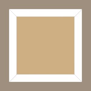 Cadre bois profil plat largeur 2.5cm couleur blanc mat - 42x59.4