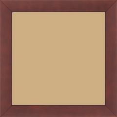 Cadre bois profil plat largeur 2.5cm couleur bordeaux satiné - 15x20