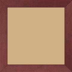 Cadre bois profil plat largeur 2.5cm couleur rose fushia satiné - 60x90