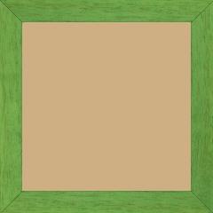 Cadre bois profil plat largeur 2.5cm couleur vert menthe satiné - 40x40