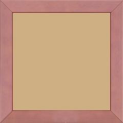 Cadre bois profil plat largeur 2.5cm couleur lilas satiné - 15x20