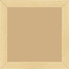 Cadre bois profil plat largeur 2.5cm couleur naturel satiné - 15x20